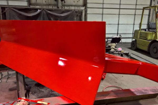 Newly fabricated front blade front pic